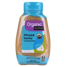 Marketside Organic Minced Garlic, 9.5 oz