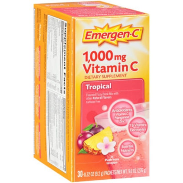 Emergen-C Tropical Drink Vitamin C 1000mg Mix Dietary Supplement