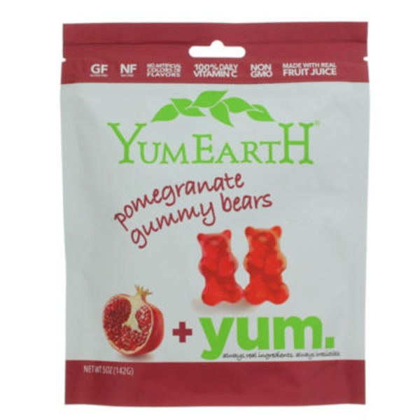 YumEarth Gummy Bears Pomegranate