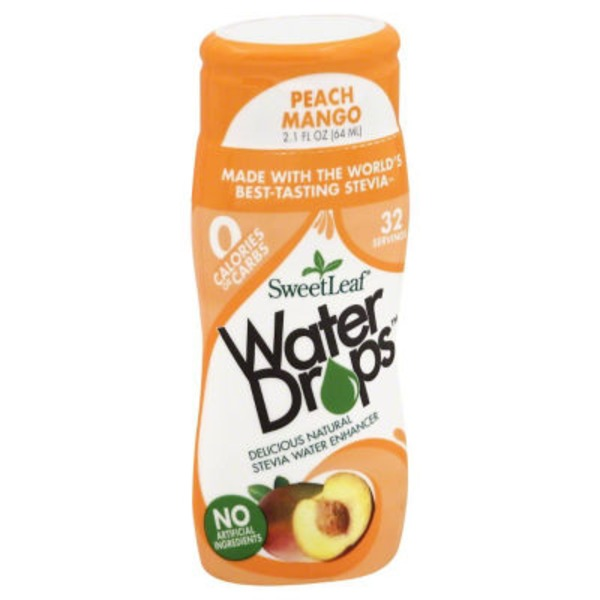 Sweetleaf Stevia Peach Mango Water Drops Stevia Water Enhancer