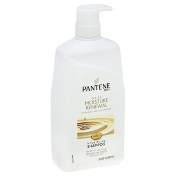 Pantene Daily Moisture Renewal Pantene Pro-V Daily Moisture Renewal Hydrating Shampoo 29.2 fl oz with Pump - Moisturizing Shampoo  Female Hair Care