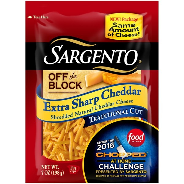 Sargento® Off The Block Extra Sharp Cheddar Traditional Cut Shredded Cheese