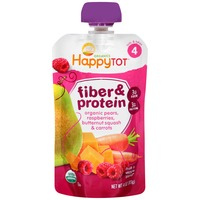 Happy Tot Fiber & Protein/Organic Pears, Raspberries, Butternut Squash & Carrots Snack
