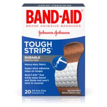 BAND-AID® Brand TOUGH-STRIPS® Adhesive Bandages, Durable Protection for Minor Cuts and Scrapes, 20 Count