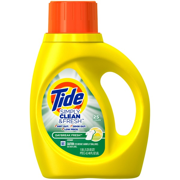 Tide Simply Clean & Fresh HE Liquid Laundry Detergent, Daybreak Fresh Scent, 25 Loads 40 Fl Oz Laundry