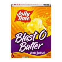 Jolly Time Blast O Butter Ultimate Theatre Style Butter Microwave Pop Corn, 3.2 oz, 6 pack