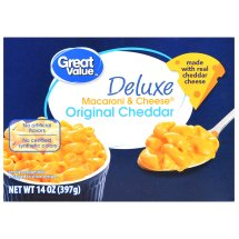 Great Value Deluxe Macaroni & Cheese, Original Cheddar, 14 oz