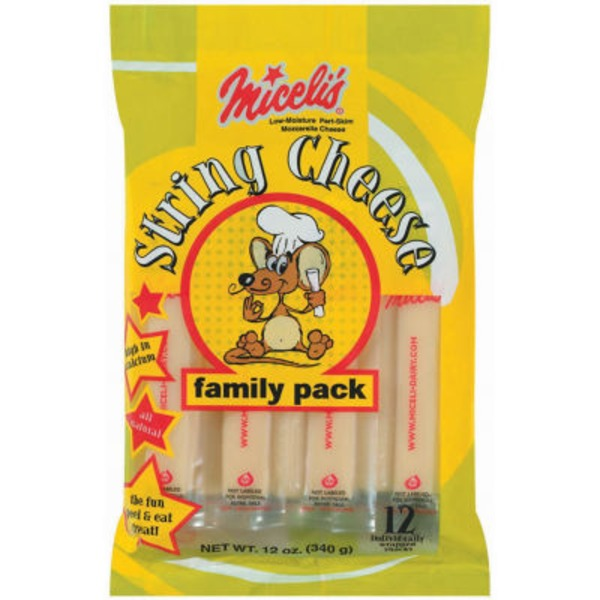 Miceli's Mozzarella String Cheese Family Pack