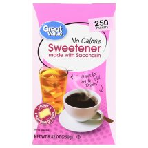 Great Value Sweetener with Saccharin Packets, No Calorie, 8.82 oz, 250 Count