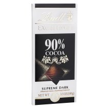 Lindt Excellence Supreme Dark Chocolate Bar 90% Cocoa, 3.5 OZ