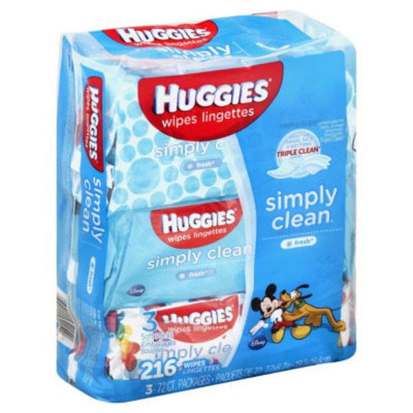 Huggies Simply Clean Fresh Baby Wipes