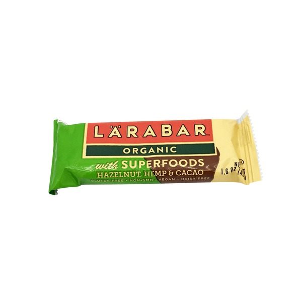 Larabar Organic Hazelnut Hemp Cacao Superfoods Bar