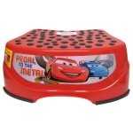 Disney Car Step and Glow Step Stool, Red