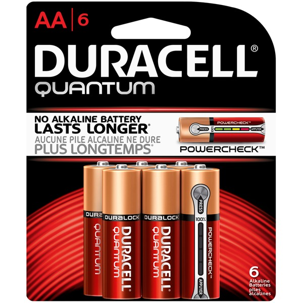 Duracell Quantum Duracell Quantum AA Alkaline Batteries 6 count Primary Major Cells