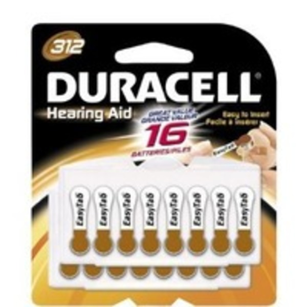 Duracell Hearing Aid 312 Batteries
