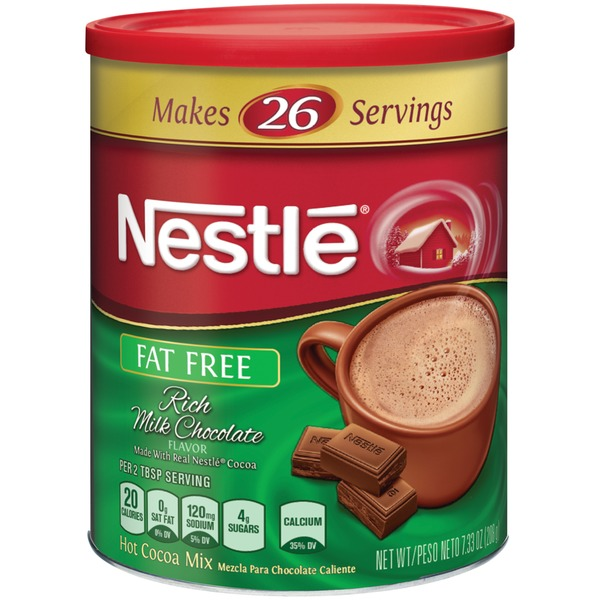 Nestle Hot Cocoa Fat Free Rich Milk Chocolate Hot Cocoa Mix