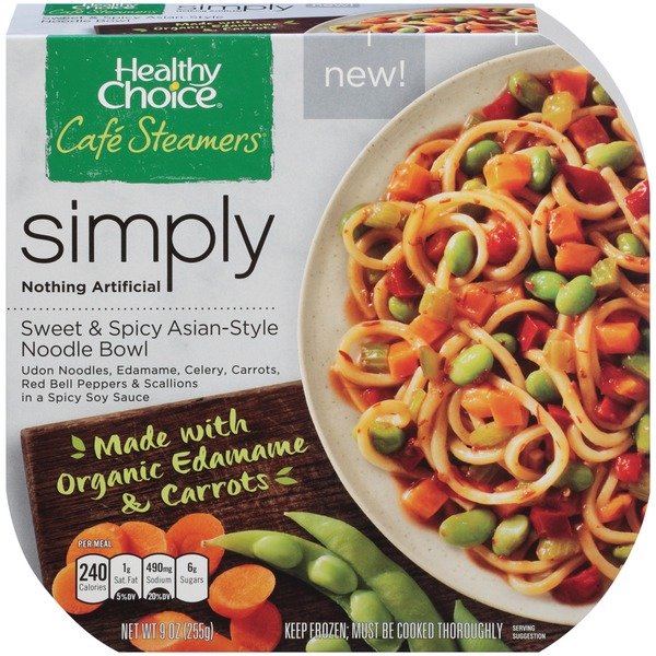 Healthy Choice Cafe Steamers Simply Sweet & Spicy Asian-Style Noodle Bowl