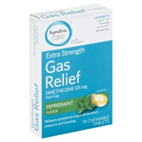 Signature Care Gas Relief Peppermint Chewable Tablets