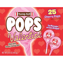 Tootsie Roll Pops Valentine Cherry Pops