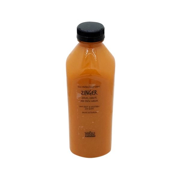Whole Foods Market Zinger Apples, Carrots & Fresh Ginger Juice
