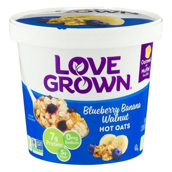Love Grown Blueberry Banana Walnut Hot Oats