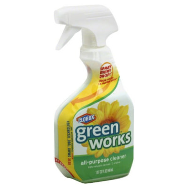 Green Works Multi-Surface Cleaner, Spray Bottle, Original Fresh, 32 Ounces