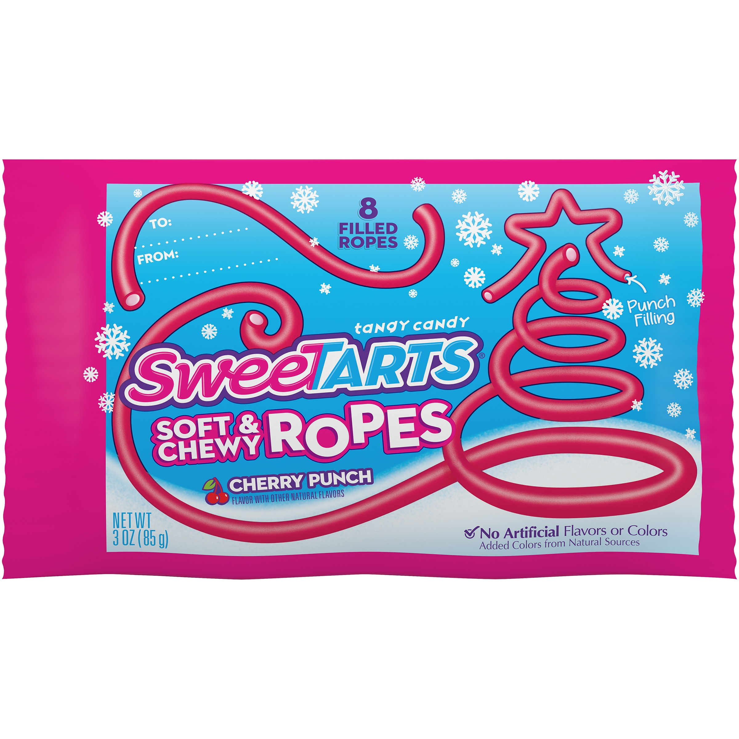 Wonka Sweettarts Soft & Chewy Ropes Holiday Candy