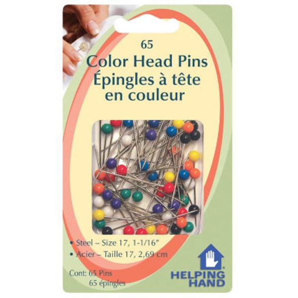 Helping Hand Colored Head Pins