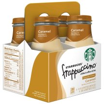 Starbucks Frappuccino Chilled Coffee Drink, Caramel, 9.5 Fl Oz, 4 Count