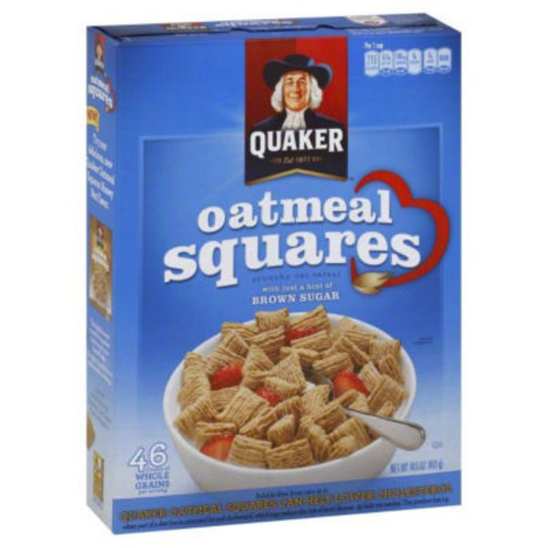 Quaker Oatmeal Squares Brown Sugar Crunchy Oat Cereal