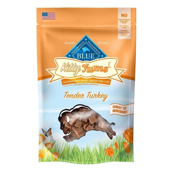 Blue Buffalo Kitty Yums Tender Turkey Cat Treats Pouch