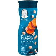 Gerber Graduates Puffs Sweet Potato Cereal Snack 1.48 oz. Canister