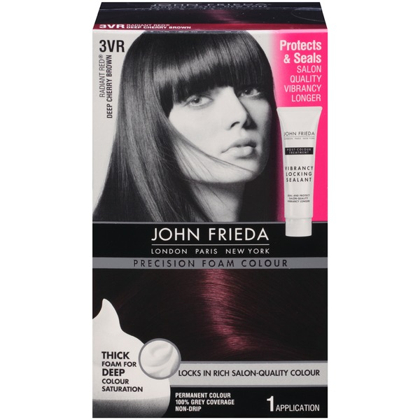 John Frieda Hair Color Precision Foam Colour Radiant Red Dark Cherry Brown 3VR Permanent Hair Colour