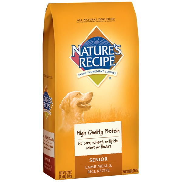 Nature's Recipe Senior Lamb Meal & Rice Recipe Dog Food