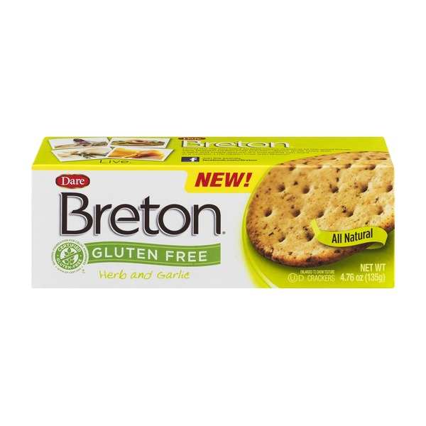 Dare Breton Gluten Free Crackers Herb and Garlic