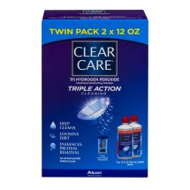 Clear Care Triple Action Cleaning Twin Pack, 12.0 FL OZ