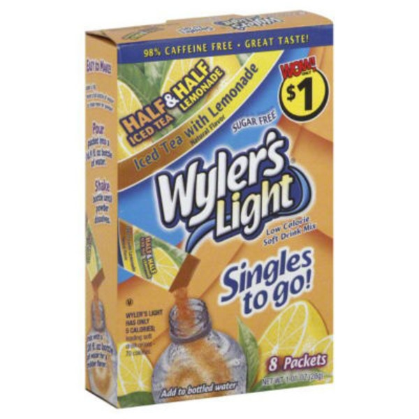Wylers Soft Drink Mix, Low Calorie, Sugar Free, Iced Tea with Lemonade