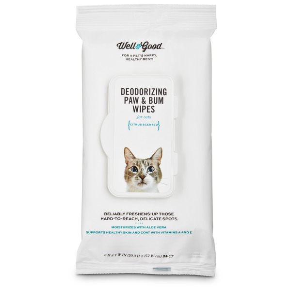 Pet Lock Plus Deodorizing Paw & Bum Wipes