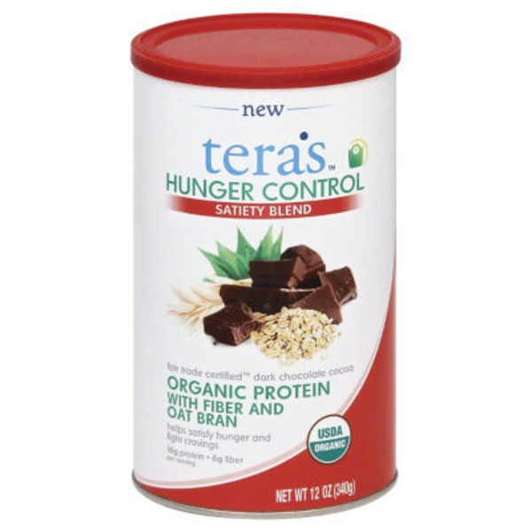 Teras Satiety Blend Fair Trade Certified Dark Chocolate Cocoa Organic Protein