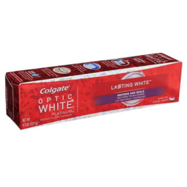 Colgate Optic White Platinum Anticavity Flouride Toothpaste Lasting White