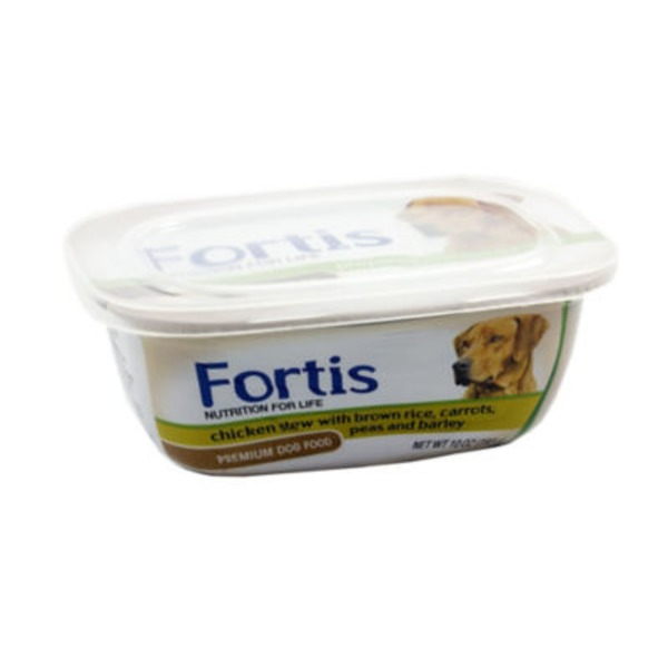 Fortis Premium Hearty Chicken Stew with Peas, Carrots, Brown Rice and Barley Dog Food