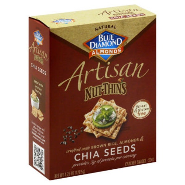 Blue Diamond Gluten Free Artisan Nut-Thins Chia Seeds