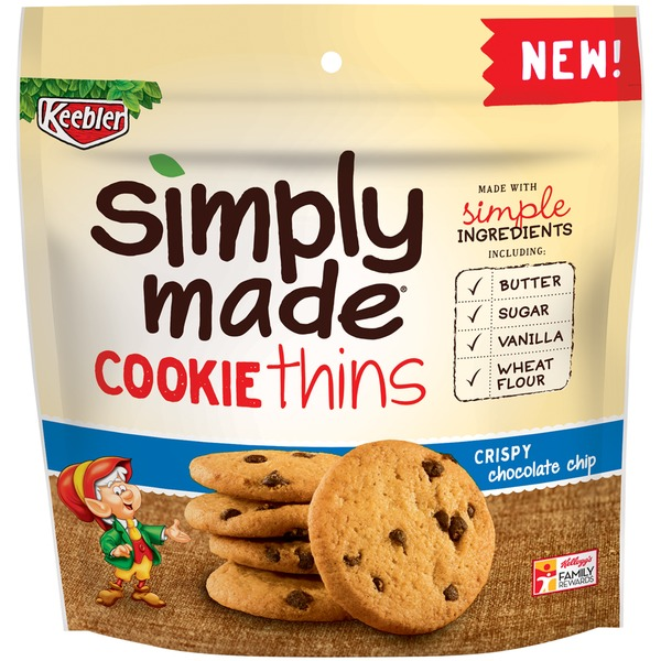 Keebler Simply Made Crispy Chocolate Chip Thins Cookies