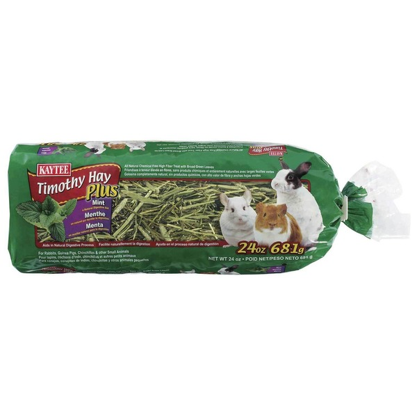 Kaytee Timothy Hay Plus Mint For Rabbits & Small Animals 24 Oz.