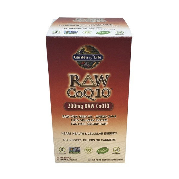 Garden of Life Raw Co Q10 200 mg Vegetarian Capsules