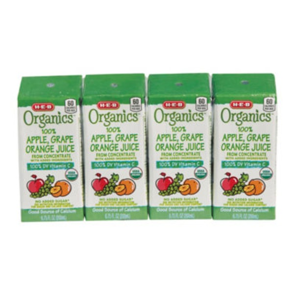 H-E-B Apple Grape Orange Juice