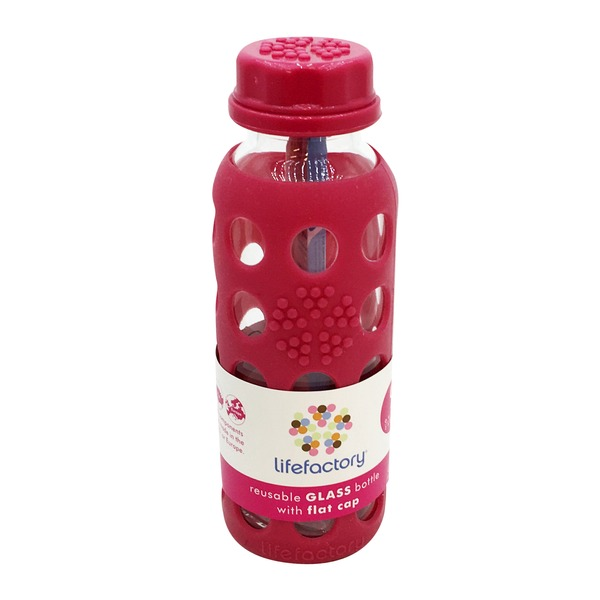 Lifefactory Raspberry Water Bottle