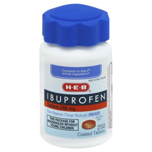 H-E-B Ibuprofen 200 Mg Tablets