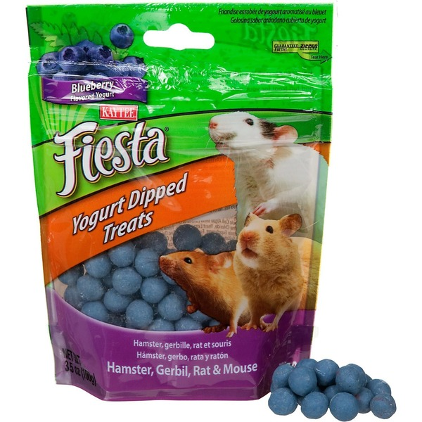 Kaytee Blueberry Flavoured Yogurt Dipped Treats Hamster, Gerbil, Rat & Mouse