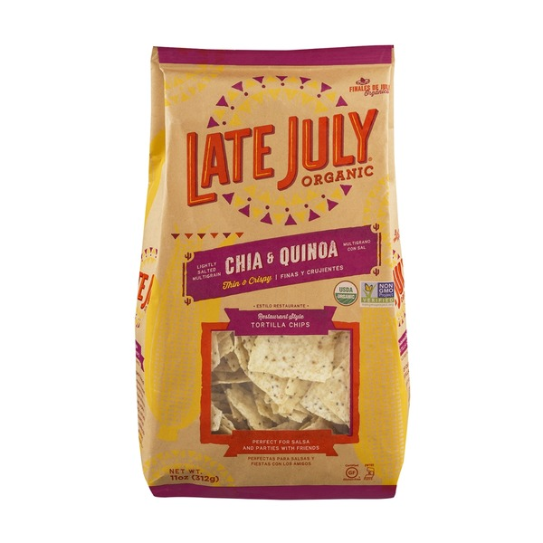 Late July Organic Restaurant Style Tortilla Chips Chia & Quinoa